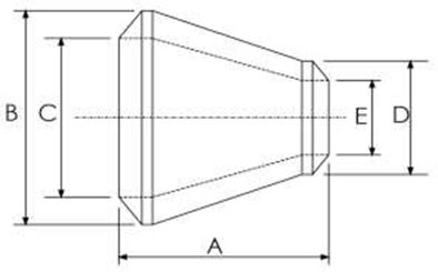 AISI 4130 Concentric Reducer Dimensions